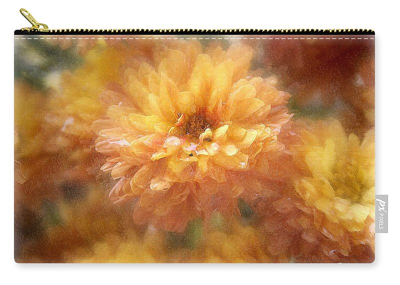 Flowers Carry-all Pouch featuring the photograph Orange Passion by Linda Sannuti