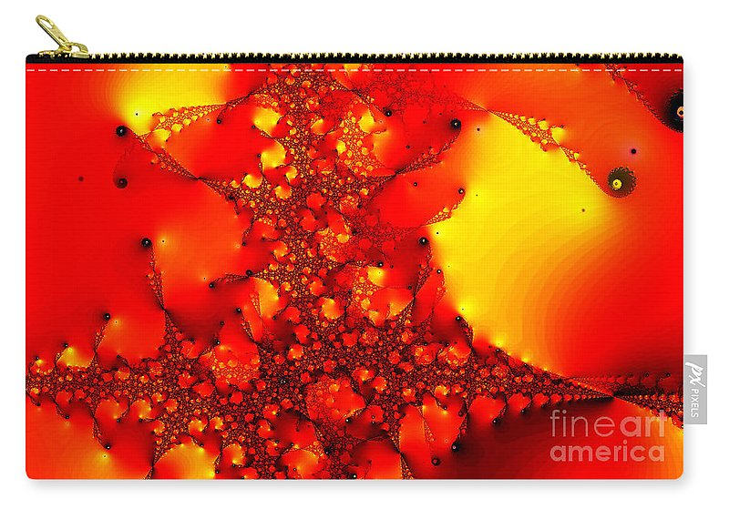 Clay Carry-all Pouch featuring the digital art Orange Peel by Clayton Bruster
