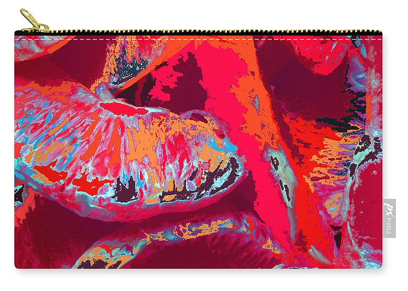 Abstract Carry-all Pouch featuring the digital art Orange by Rachel Christine Nowicki