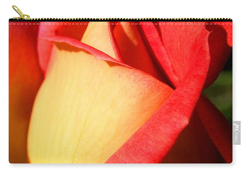 Orange Rosebud Carry-all Pouch featuring the photograph Orange Rosebud by Ralph A Ledergerber-Photography