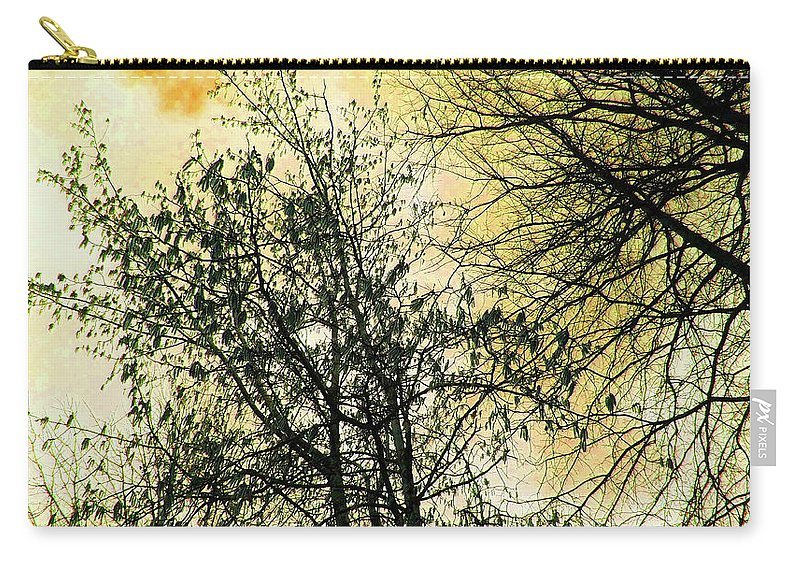 Orange Carry-all Pouch featuring the photograph Orange Sky by Tommy Carhart
