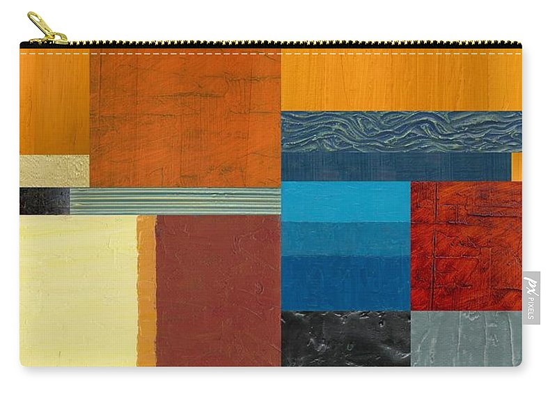 Multicolored Carry-all Pouch featuring the painting Orange Study With Compliments 3.0 by Michelle Calkins