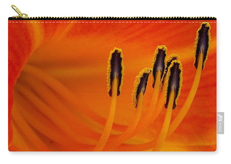 Floral Carry-all Pouch featuring the photograph Orange You Glad by Marla McFall