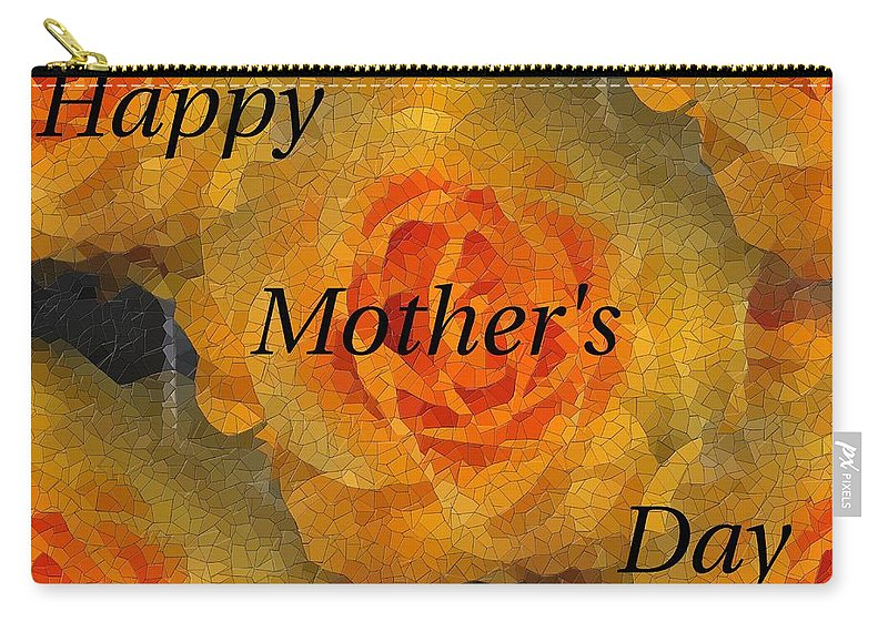 Mother's Day Carry-all Pouch featuring the digital art Orange You Lovely Mothers Day by Tim Allen