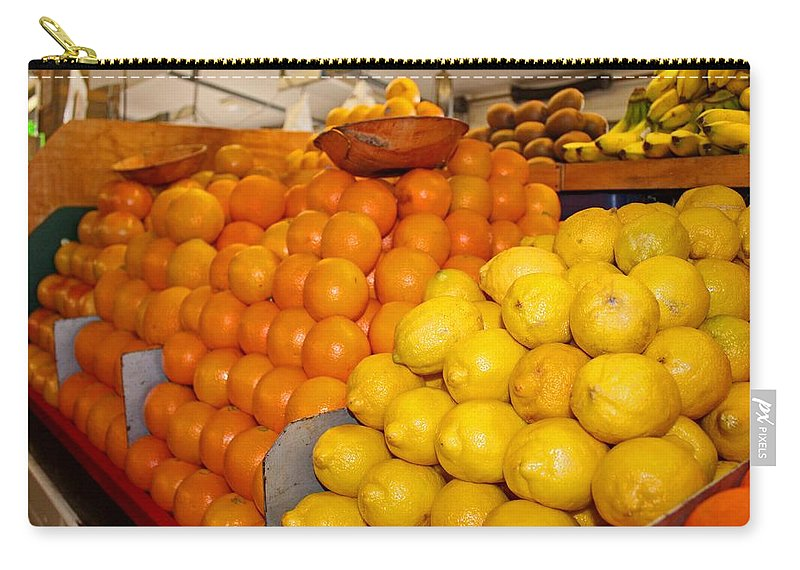 Oranges Carry-all Pouch featuring the photograph Oranges And Lemons by Michiale Schneider