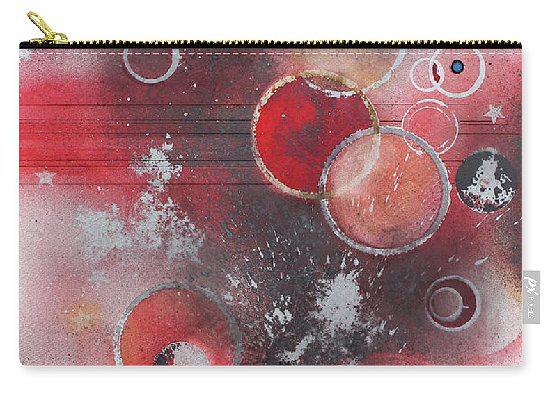 An Abstract Painting. Carry-all Pouch featuring the painting Orbs by Monte Toon
