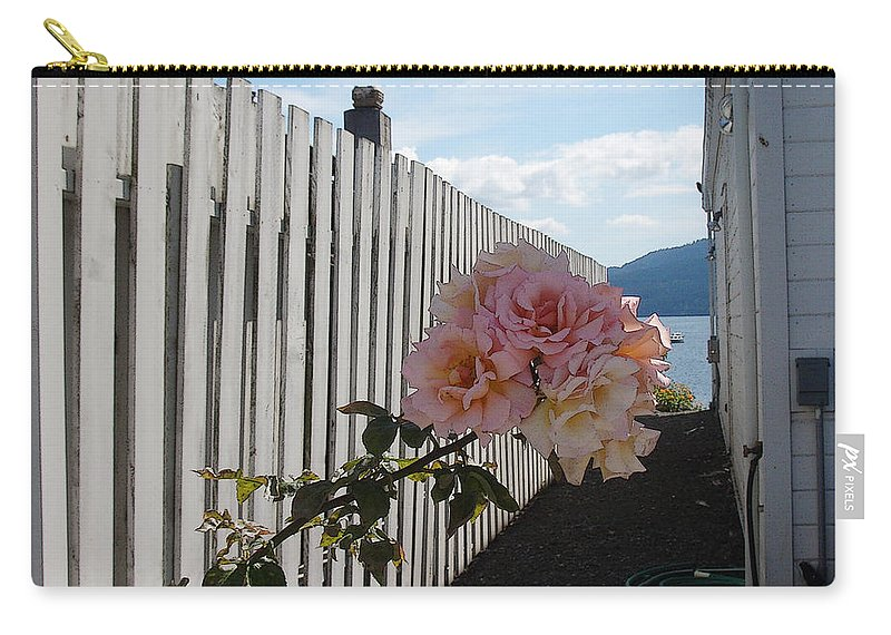 Rose Carry-all Pouch featuring the photograph Orcas Island Rose by Tim Nyberg