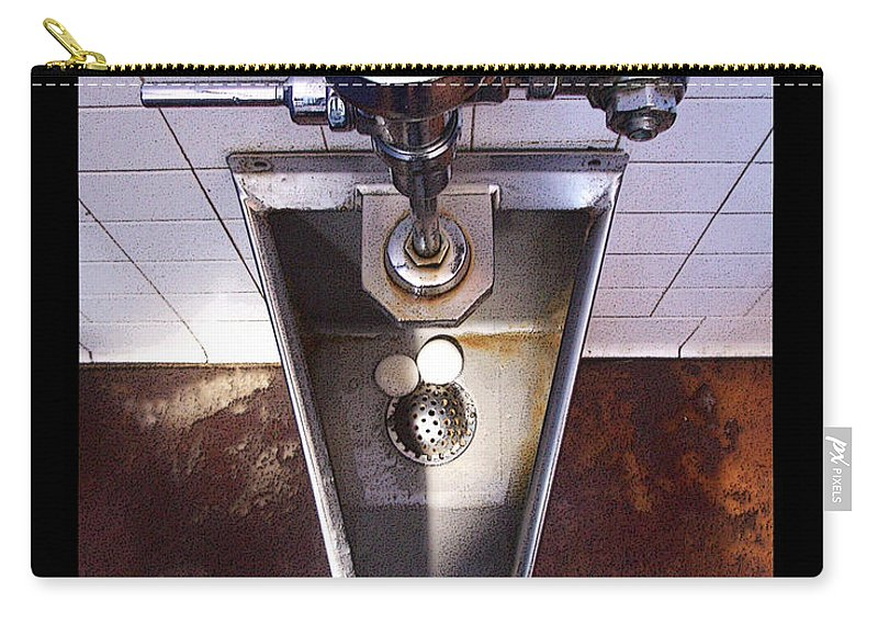 Urinal Carry-all Pouch featuring the photograph Orcas Island Urinal by Tim Nyberg