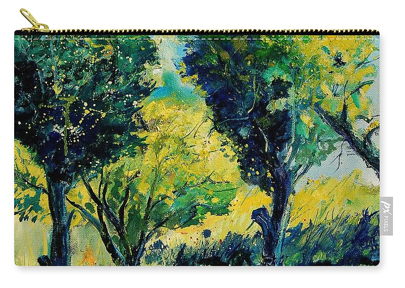 Tree Carry-all Pouch featuring the painting Orchard 562 by Pol Ledent