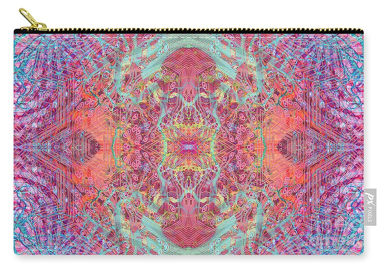 Abstract Carry-all Pouch featuring the digital art Orchard Interface by Ryan Ross