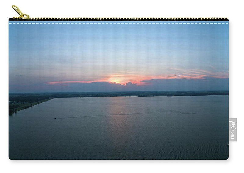 Carry-all Pouch featuring the photograph Orchard Island Sunset by Brian Jones