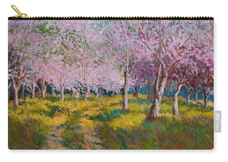 Impressionism Carry-all Pouch featuring the painting Orchard Light by Keith Burgess