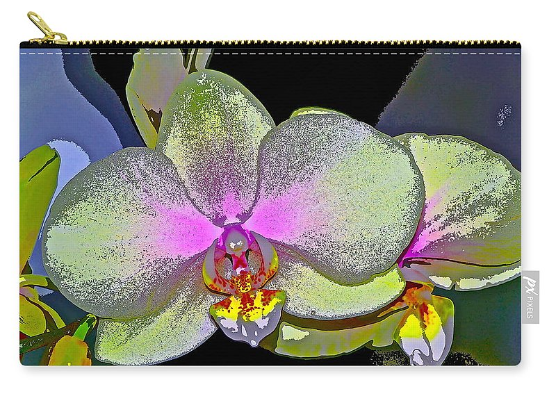 Floral Carry-all Pouch featuring the photograph Orchid 2 by Pamela Cooper