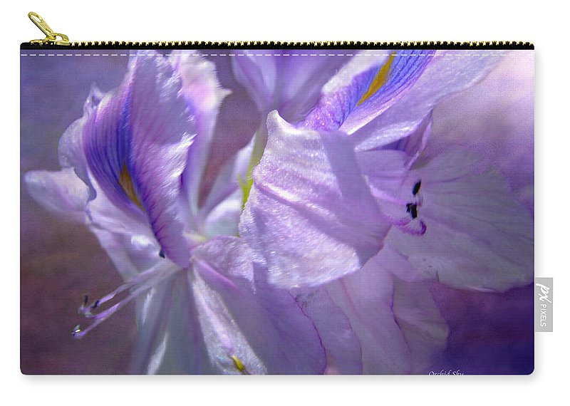 Orchid Carry-all Pouch featuring the mixed media Orchid Sky by Carol Cavalaris