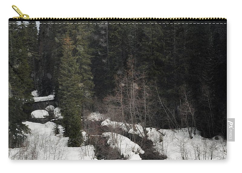 Oregon Carry-all Pouch featuring the photograph Oregon Cascade Range River by Kyle Hanson