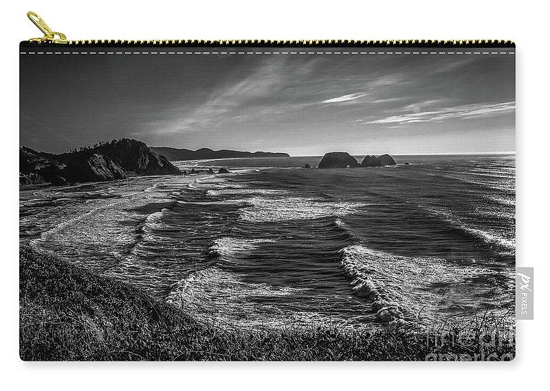 Jon Burch Carry-all Pouch featuring the photograph Oregon Coast At Sunset by Jon Burch Photography