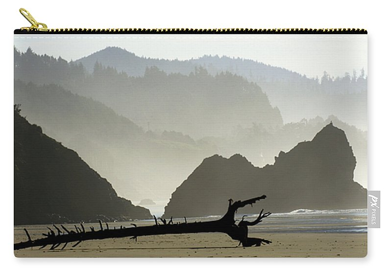 Oregon Carry-all Pouch featuring the photograph Oregon Coastal Beach by Bob Christopher