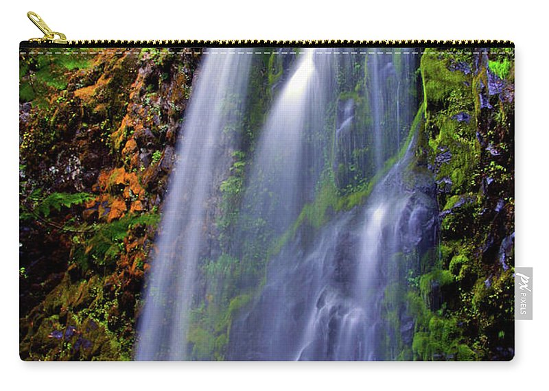 Waterfalls Carry-all Pouch featuring the photograph Oregon Falls by Scott Mahon