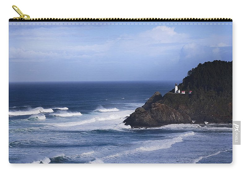 Nature Carry-all Pouch featuring the photograph Oregon Lighthouse by John K Sampson