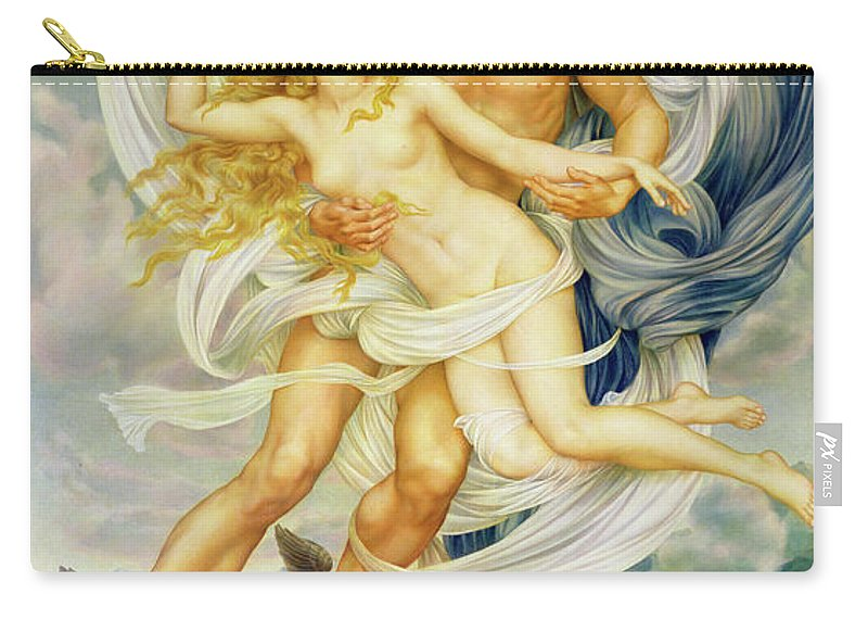 Boreas Abducting Oreithyia Carry-all Pouch featuring the painting Oreithyia And Boreas by Evelyn De Morgan