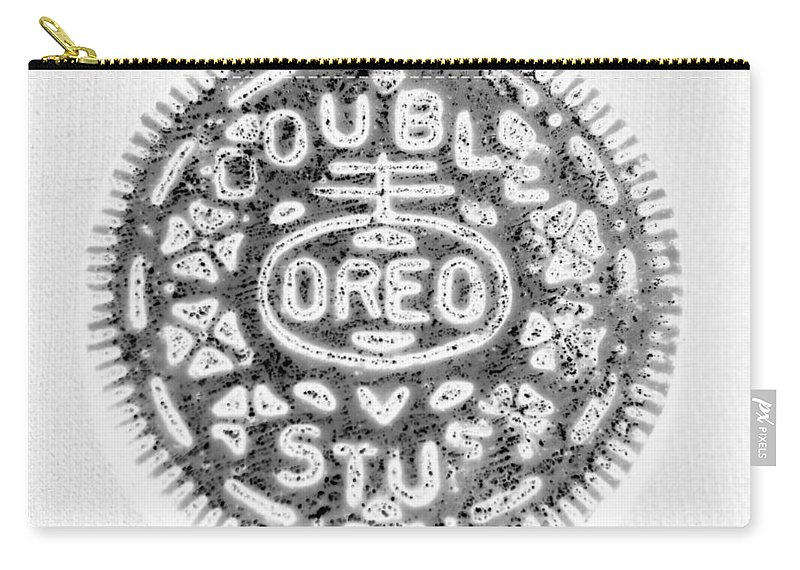 Oreo Carry-all Pouch featuring the photograph Oreo In Negetive by Rob Hans