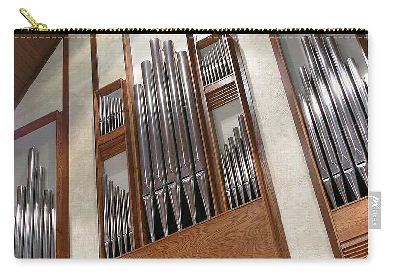 Music Carry-all Pouch featuring the photograph Organ Pipes by Ann Horn