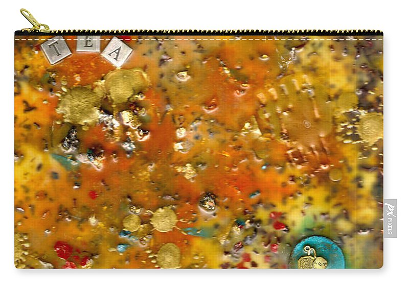 Wood Carry-all Pouch featuring the mixed media Organic by Angela L Walker
