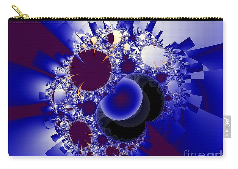 Fractal Image Carry-all Pouch featuring the digital art Organics And Geometry by Ron Bissett