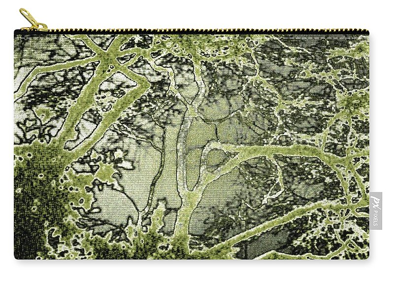 Oriental Garden Carry-all Pouch featuring the digital art Oriental Garden by Will Borden