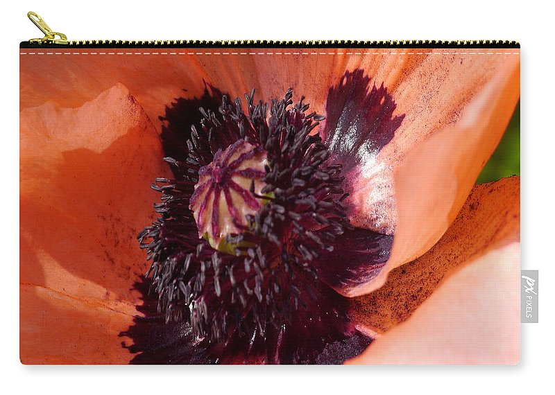 Oriental Poppy Carry-all Pouch featuring the photograph Oriental Poppy - Duvet Covers by Christiane Schulze Art And Photography