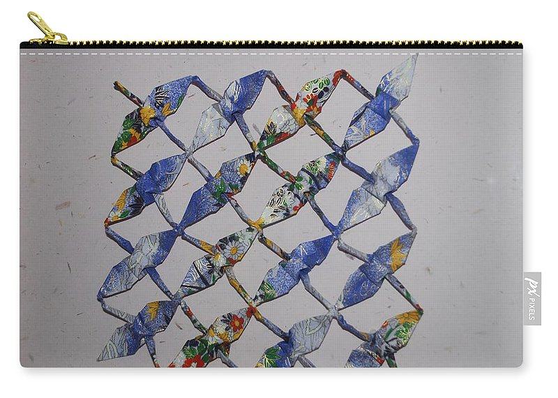 Swan Carry-all Pouch featuring the photograph Origami Cranes by Rob Hans
