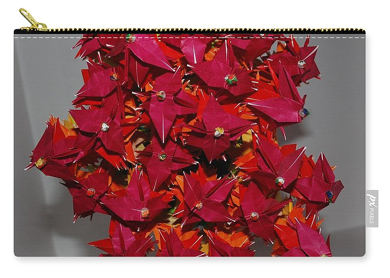 Origami Carry-all Pouch featuring the photograph Origami Flowers by Rob Hans