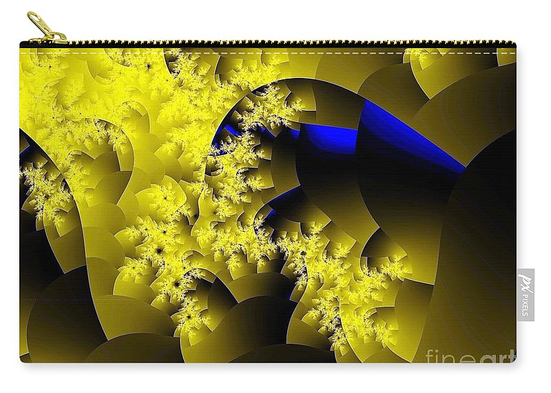 Origami Carry-all Pouch featuring the digital art Origami Gone Wild by Ron Bissett