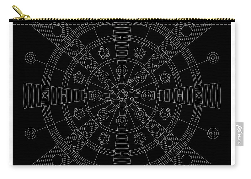 Relief Carry-all Pouch featuring the digital art Origin Inverse by DB Artist