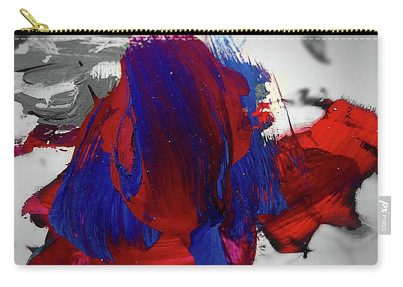 Native American Carry-all Pouch featuring the painting Original American by ElReco Ramon