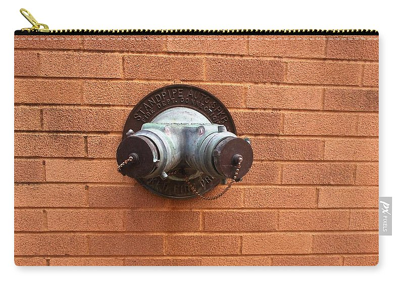 Photograph Carry-all Pouch featuring the photograph Original Female Pipe by Thomas Valentine