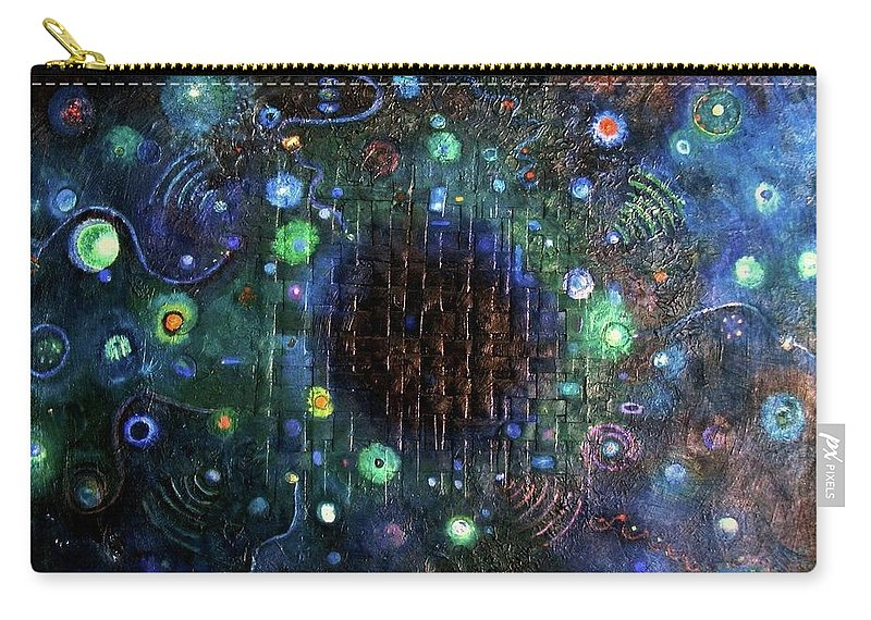 Creation Carry-all Pouch featuring the painting Origins by Ishwar Malleret