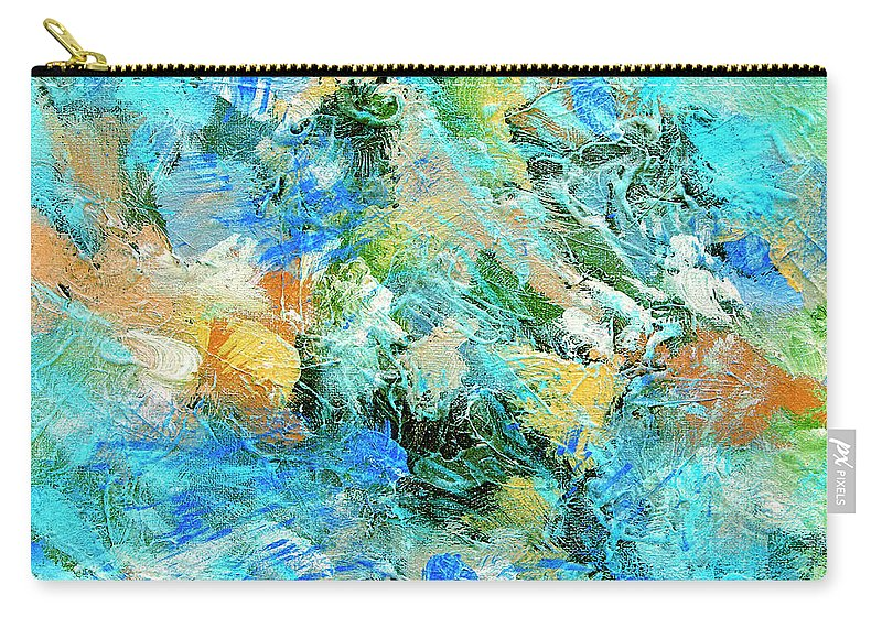 Abstract Carry-all Pouch featuring the painting Orinoco by Dominic Piperata
