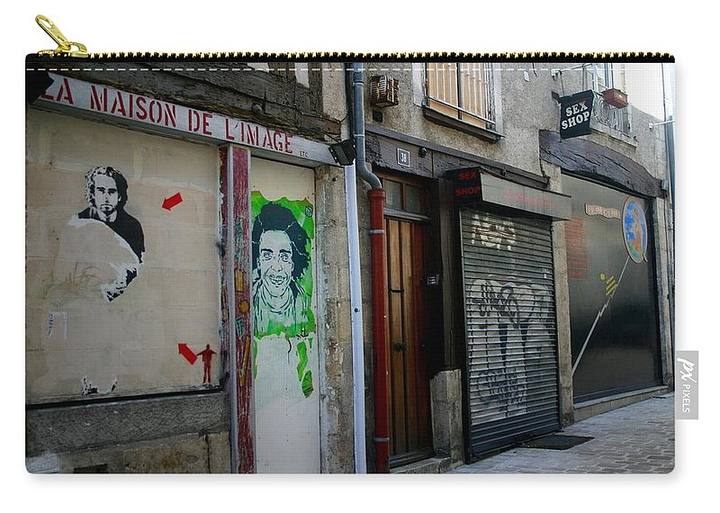 Alley Carry-all Pouch featuring the photograph Orleans France Alley by Minaz Jantz