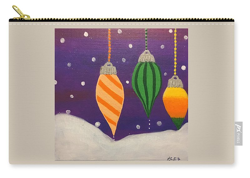 Christmas Carry-all Pouch featuring the painting Ornaments by Rita Parrish