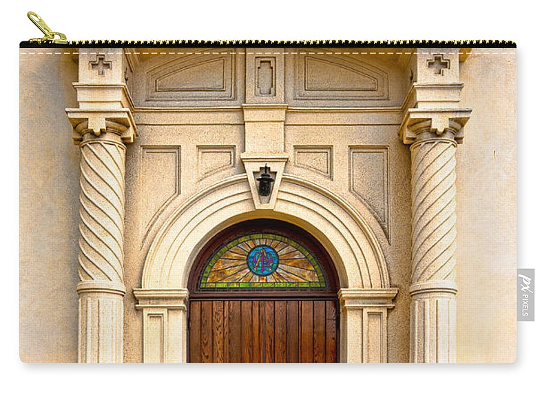 Catholic Church Of The Immaculate Conception Carry-all Pouch featuring the photograph Ornate Entrance by Christopher Holmes