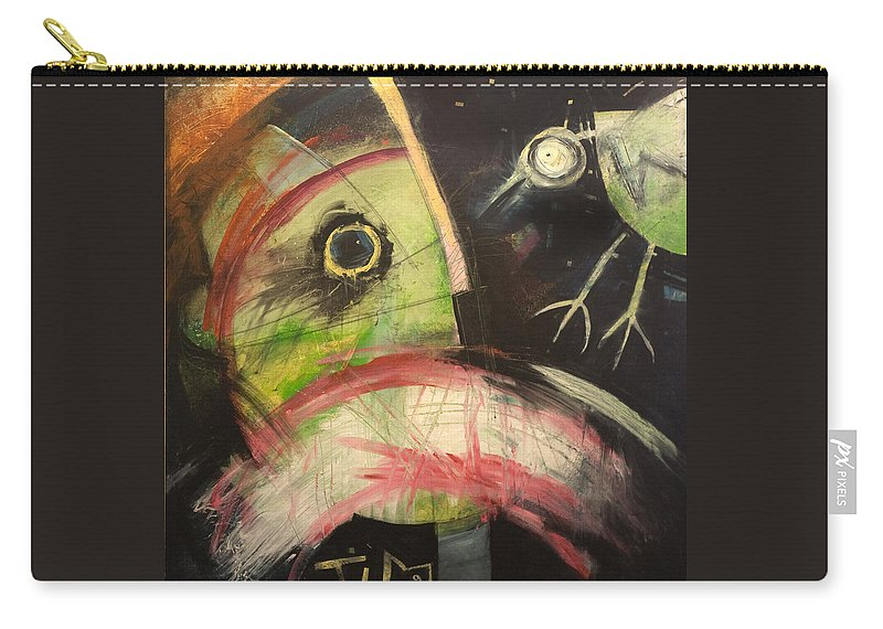 Bird Carry-all Pouch featuring the painting Ornithophobia by Tim Nyberg