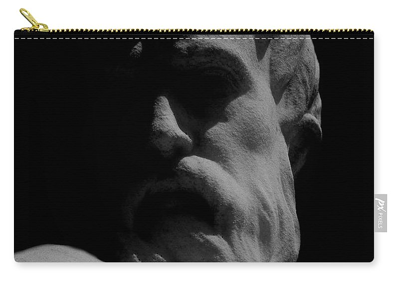 Black And White Carry-all Pouch featuring the photograph Orpheus Looks Back by RC DeWinter