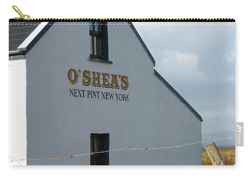 Pub Carry-all Pouch featuring the photograph O'shea's by Kelly Mezzapelle