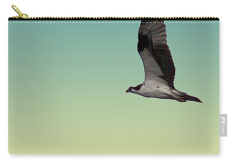 2d Carry-all Pouch featuring the photograph Osprey by Brian Wallace