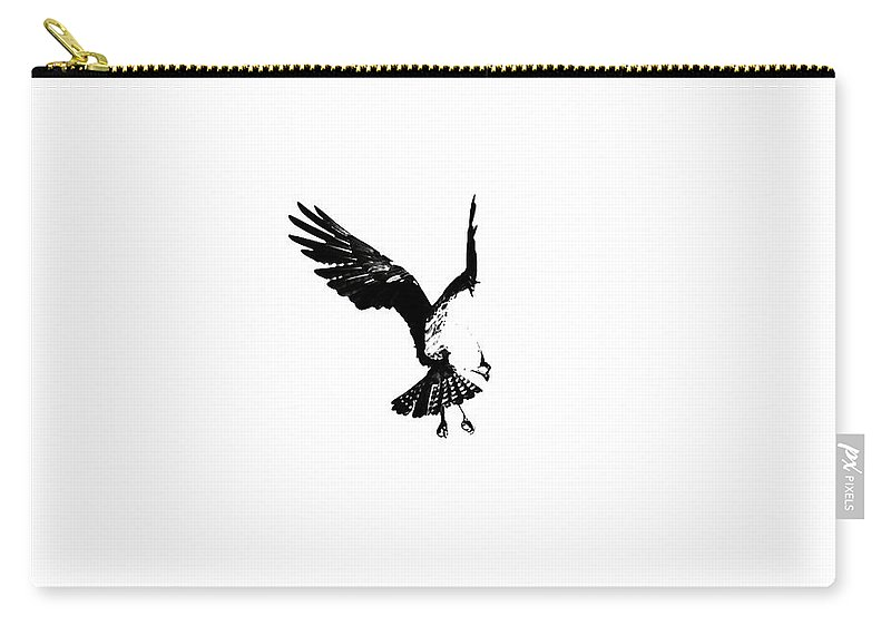 Osprey Carry-all Pouch featuring the photograph Osprey Hover by Rachel Morrison