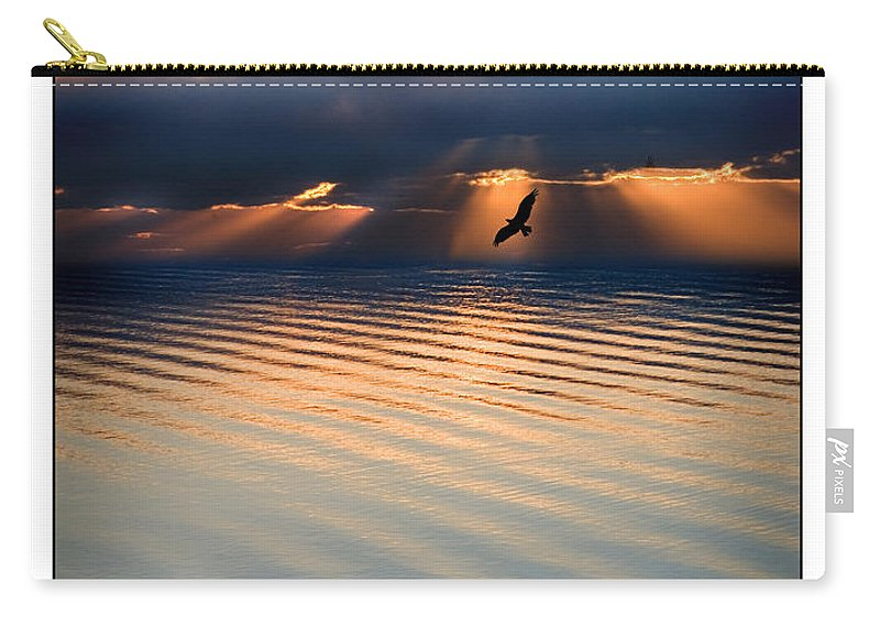 Osprey Carry-all Pouch featuring the photograph Ospreys by Mal Bray