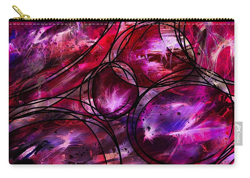 Abstract Carry-all Pouch featuring the digital art Other Worlds by Rachel Christine Nowicki