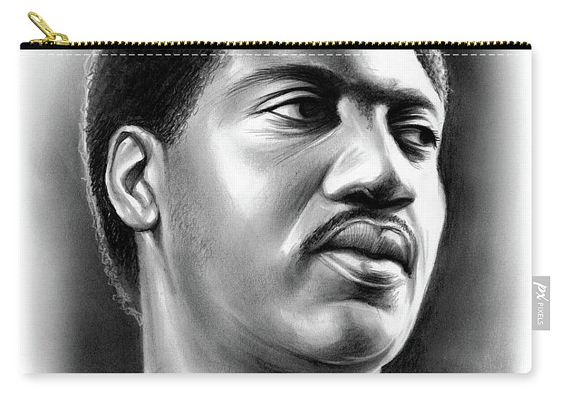 Otis Redding Carry-all Pouch featuring the drawing Otis Redding by Greg Joens