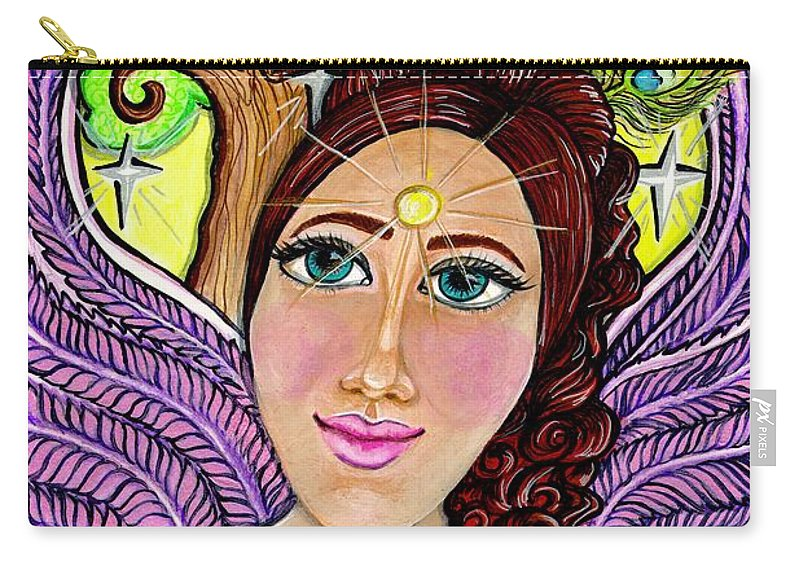 Spiritual Carry-all Pouch featuring the painting Our Lady Of Self-actualization by Camille Roman